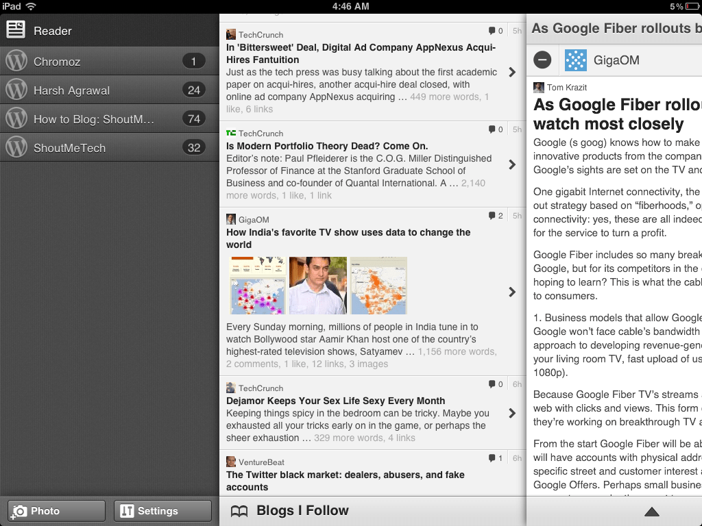 WordPress iPad app WordPress iPad App got Lot Better With Updates