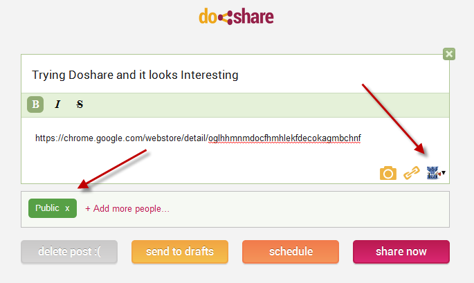 Doshare Chrome Extension: Makes Google Plus Post Scheduling Easy