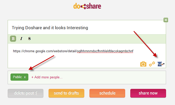 doshare Google plus status updator Doshare Chrome Extension: Makes Google Plus Post Scheduling Easy