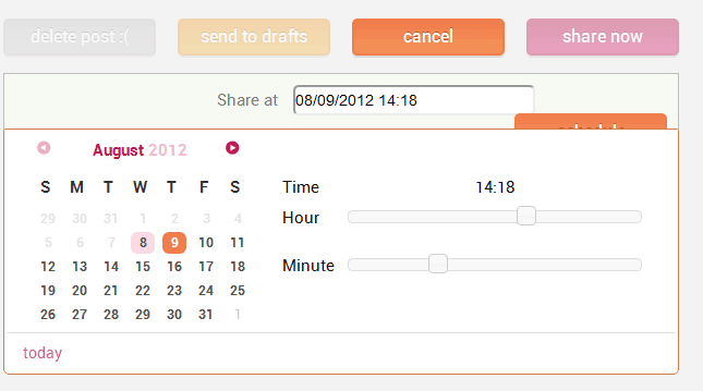 schedule Google plus Status update