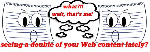 should not be happening Duplicate Web Content : How to Prevent It