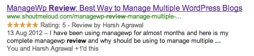 Google Search star rating Easy Ways to Increase Google Search CTR