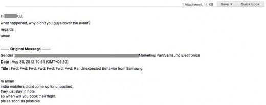 Samsung Bloggers Scandal Samsung Blackmailed & Threatened An Indian Blogger