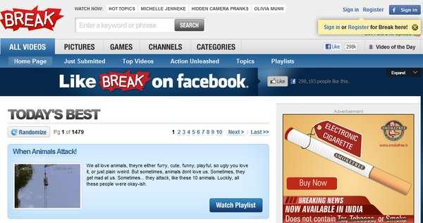 break video sharing website