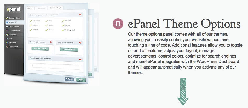ePanel Elegant Elegant Theme Review: Most Affordable WordPress Theme Club