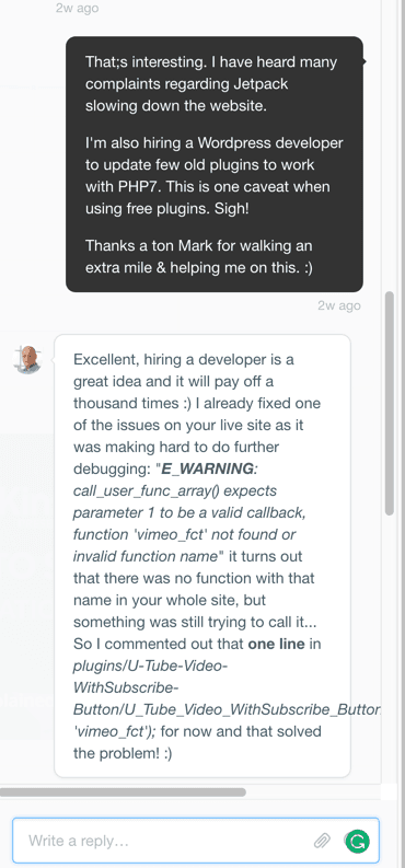 managed WordPress hosting Support