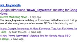News_keywords Metatag : Google News New Ranking Factor