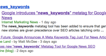 News_keywords Metatag : Google News New Ranking Factor
