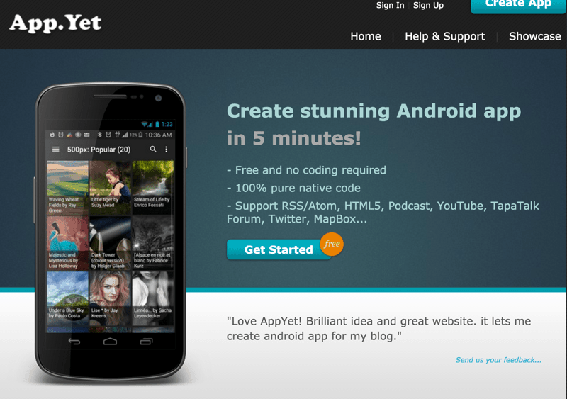 3 popular website to create android apps yourself for Who can design an app for me