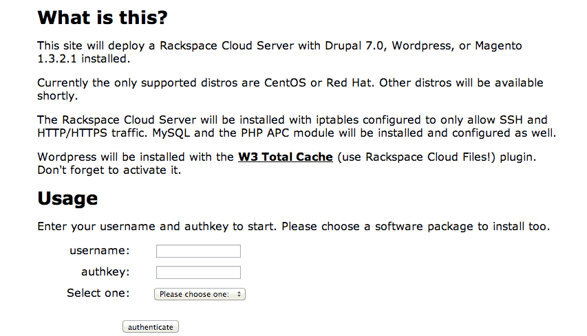 Deploy Itron How to Install WordPress on RackSpace Cloud Server Without Coding