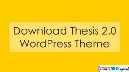 Download Thesis 2.0 WordPress Theme