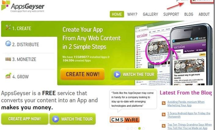 How To Create Android App for Your Blog without Any Coding
