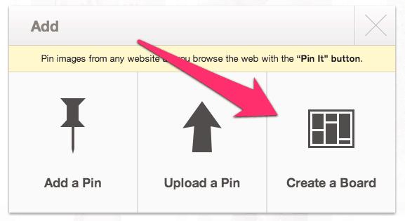 Create Pinterest Board