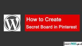 How to Create Secret Board in Pinterest