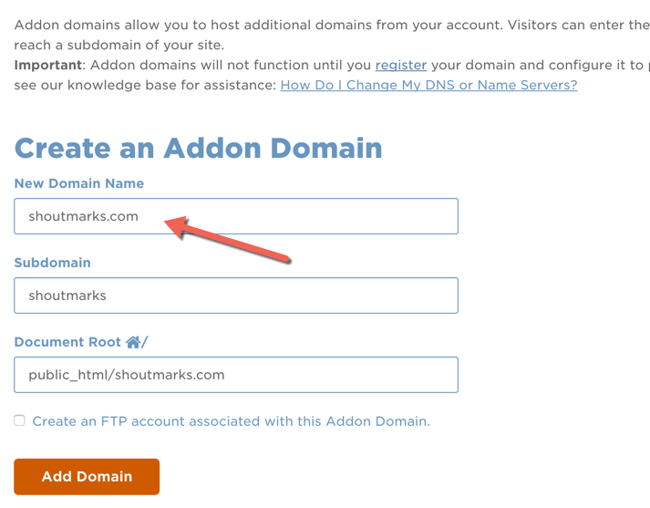 How to Add Additional Domain to Hostgator Hosting New cPanel