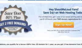 Dreamhost Discount Coupon 2015 Edition – Shouter Special offer