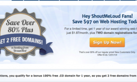 Dreamhost Discount Coupon 2016 Edition – Shouter Special offer
