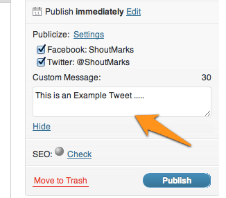 Edit auto share option How to Use JetPack Auto Publicize Feature For Social Media Automation