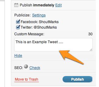 Edit auto share option