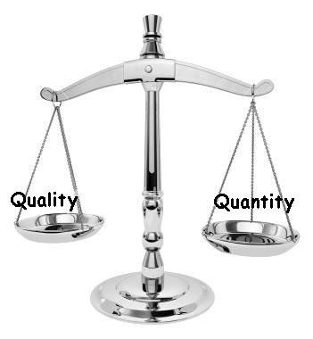 Quality or Quantity What Matters Most? Quantity or Quality Of Blog Post