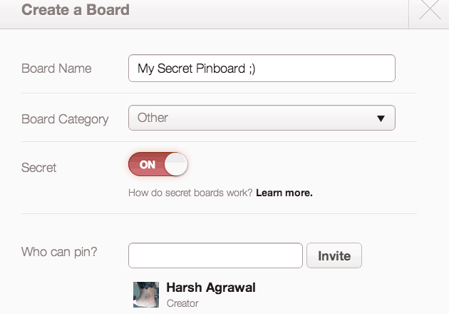 Secret Pinterst board How to Create Secret Board in Pinterest