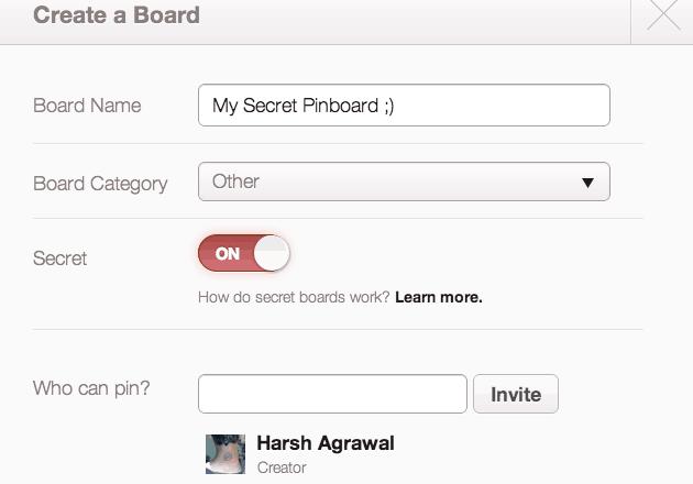 Secret Pinterst board