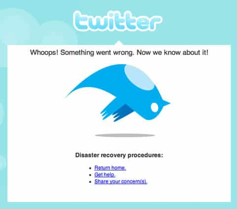 Twitter Down How can a social site like Twitter Survive major downtime?