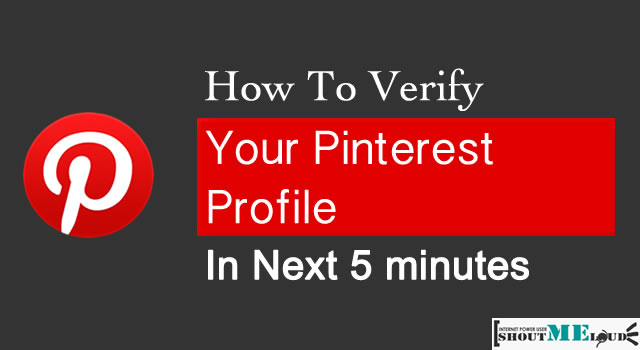 Verify Pinterest Profile