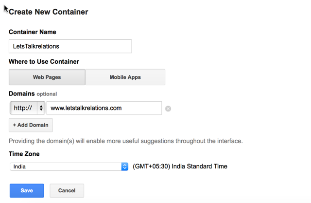 create new container