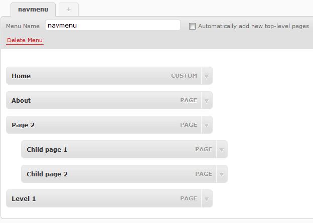 deleting WordPress menu item