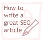 how to write a great seo article copy 150x150