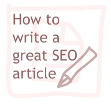 how to write a great seo article copy