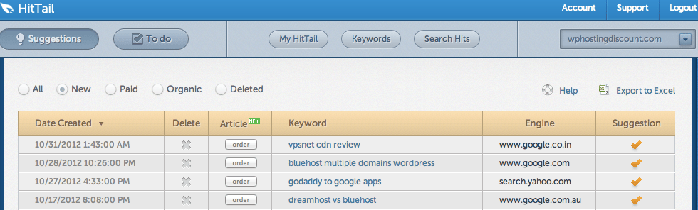 related Keyword suggestions