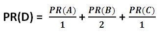 PageRank equation