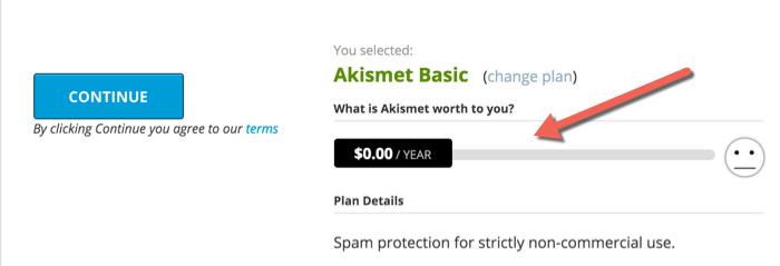 Akismet basic free