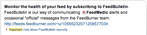 FeedBulletin FEED error