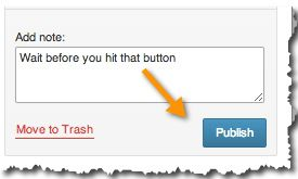 Hit publish button