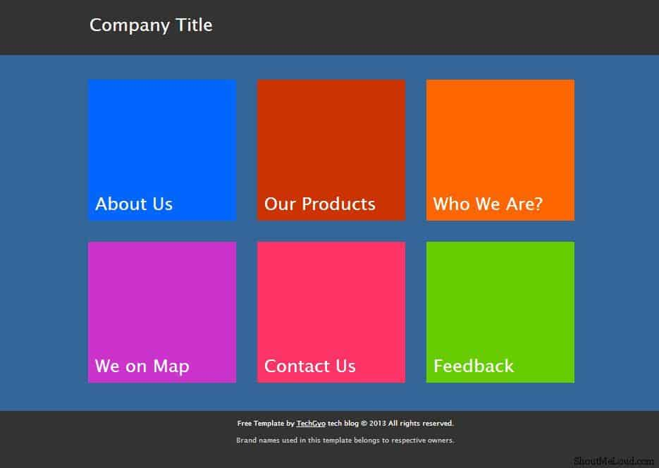 Free Metro Ui Templates To Create Windows 8 Metro Style