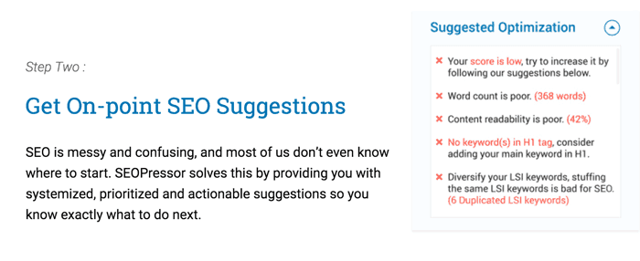 On Page SEO Suggestions
