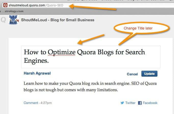 Quora Permalink SEO How to Optimize Quora Blogs for Search Engines