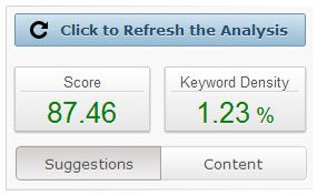 SEO Keyword score How to Recover from Google Panda Effect