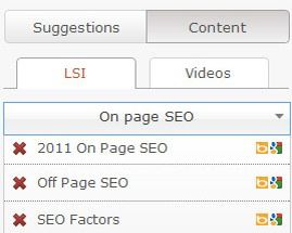 SEO Pressor LSI feature