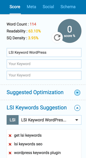 SEOPressor Connect V6 LSI Keyword