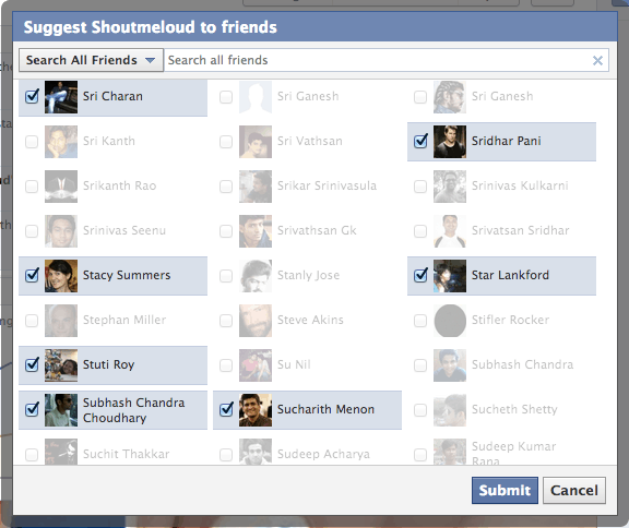 Facebook Select all