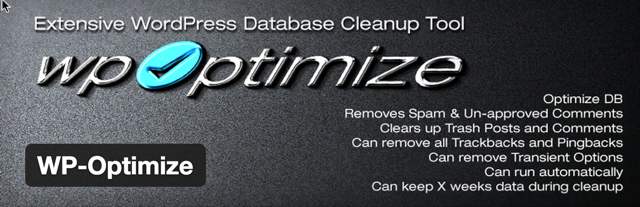 WordPress database Cleanup tool