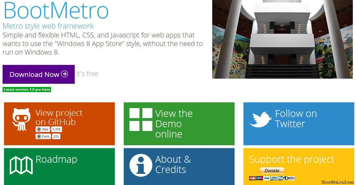 BootMetro Windows 8 template