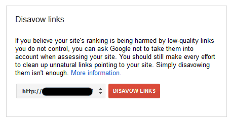 google disavow tool Why You Should Never Buy BackLinks : An Experiment