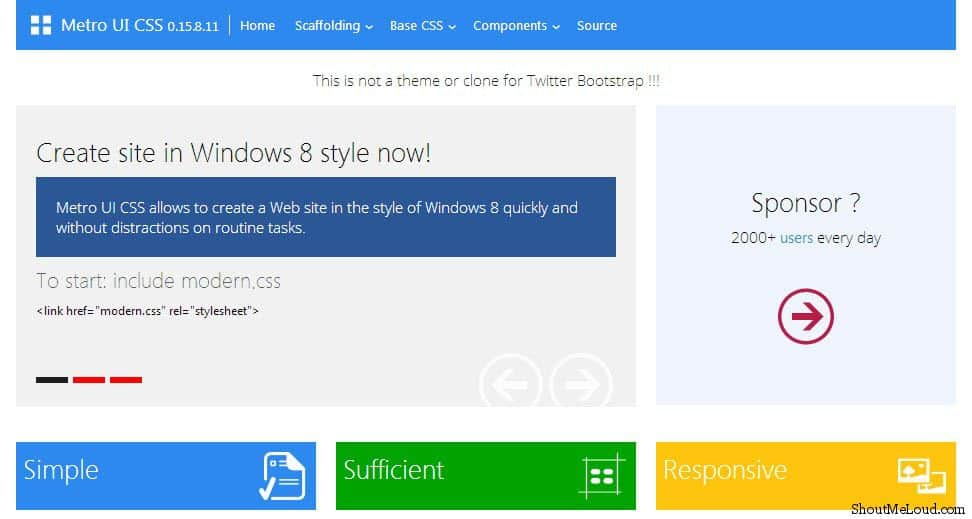 Free Metro UI Templates to Create Windows 8 Metro Style Websites