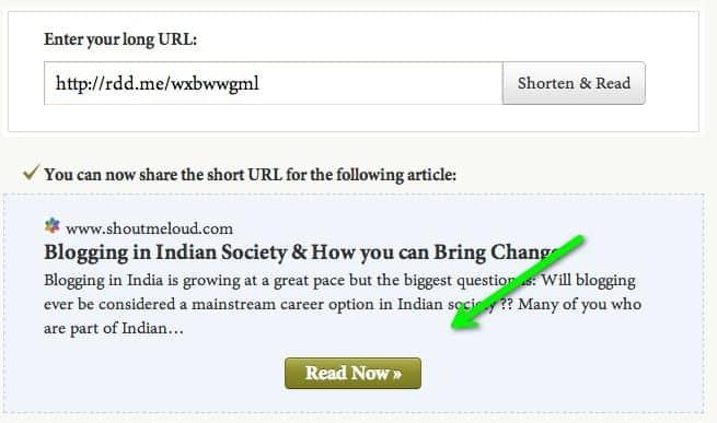 readability shortened link