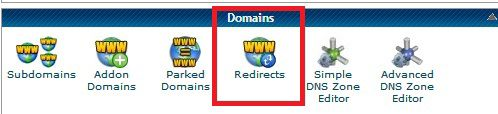 cPanel redirection